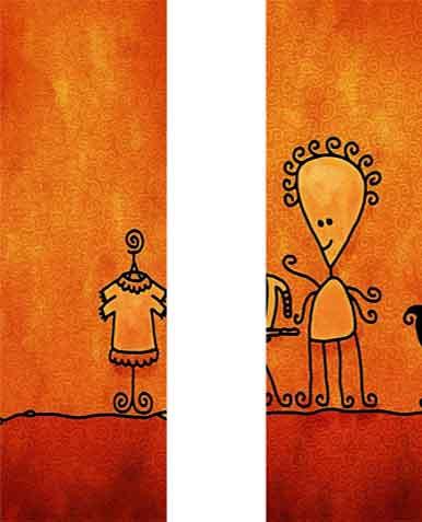 黄色卡通淘宝店铺背景图片素材下载
