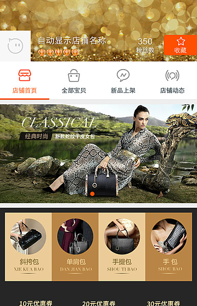 贵妇人-高贵深色女包、香水等行业手机无线端模板