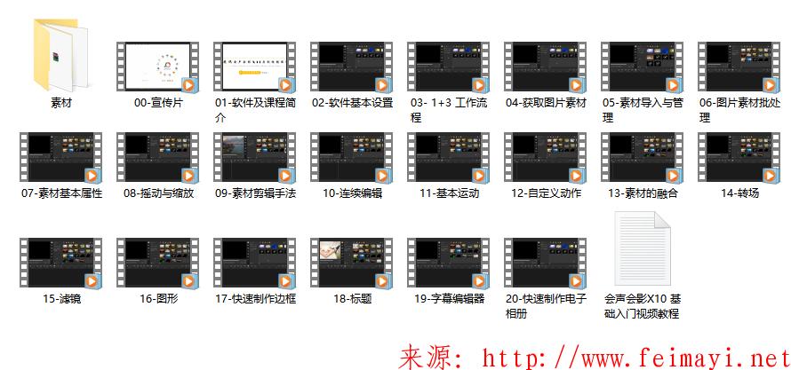 站长推荐会声会影2018会声会影X10基础入门视频教程分享