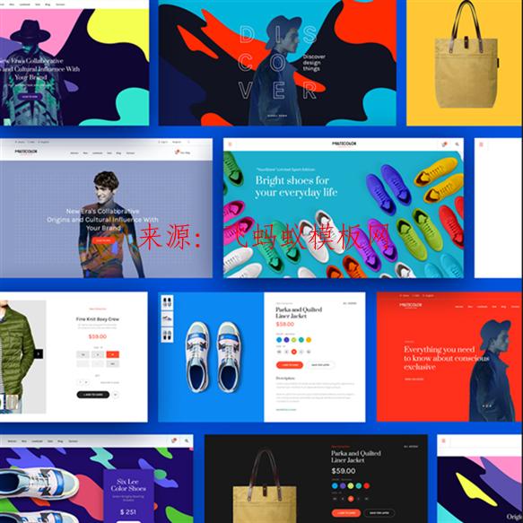 2020最新英文男女装外贸电商网页网站模版淘宝首页装修海报模板PS设计素材